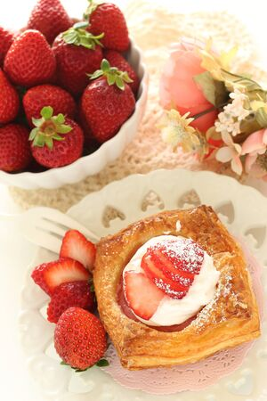 strawberry and freshness cream pastry