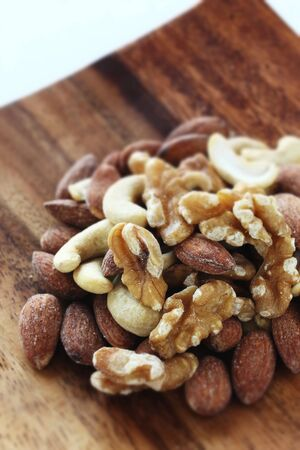 mixed almond, walnut,Cashew nut 写真素材 - 127619093