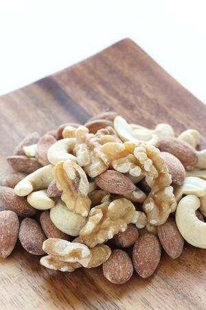mixed almond, walnut,Cashew nut 写真素材 - 127619094