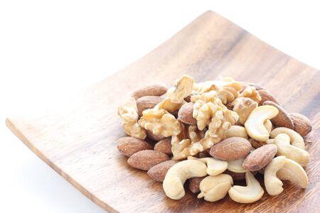 mixed almond, walnut,Cashew nut 写真素材 - 127619669