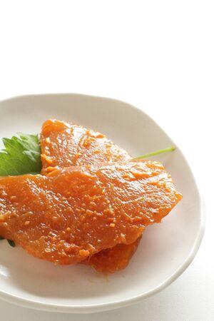 Japanese food ingredient, marinated swordfish fillet