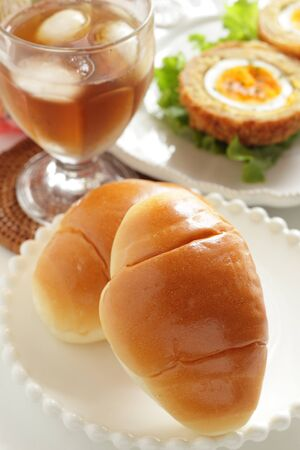 Butter Roll and Yorkshire egg