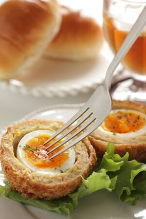Engish food mince Yorkshire egg