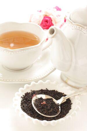 Rose tea and teapot