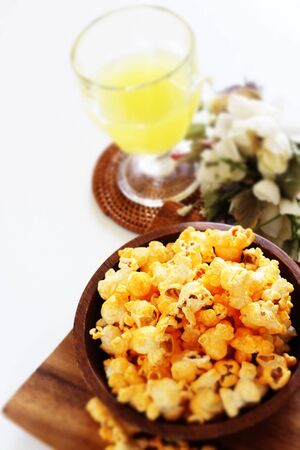 Cheese pop corn for snack food image