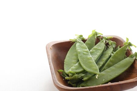Japanese pea on wooden plate for ingredient image 版權商用圖片