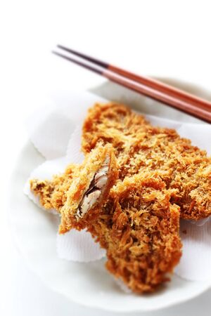 Japanese food, deep fried horse mackerel
