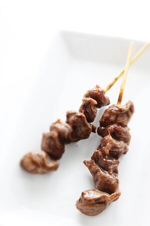 Japanese food Yakitori, grilled gizzard