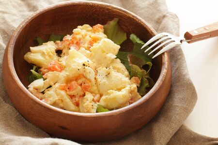 Homemde potato and carrot salad