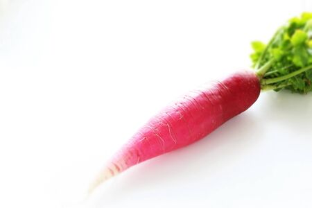 Japanese radish on white background