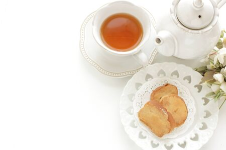 Caramel and sugar rusk for sweet snack image Stockfoto