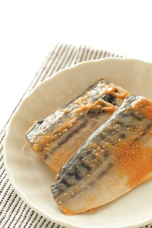 Japanese food, miso and Mackerel marinated Zdjęcie Seryjne
