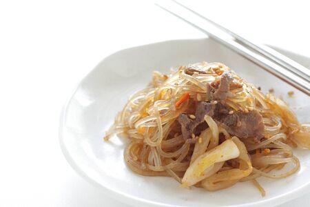 Korean food, beef and vegetable stir fried