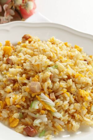 Chinese food, roasted pork fried rice s