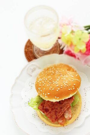 Hawaiian food,  sausage burger 写真素材 - 133457031