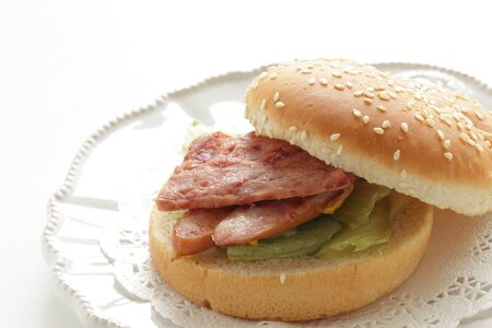 Hawaiian food, sausage burger 写真素材 - 133457249