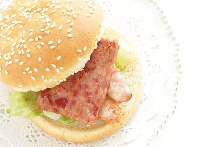 Hawaiian food, sausage burger 写真素材 - 133457253