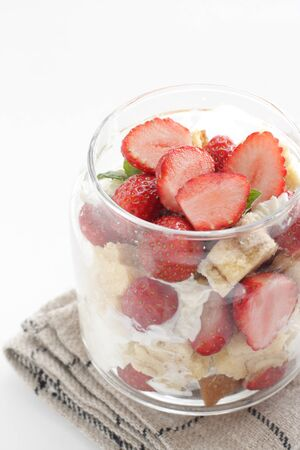 Strawberry jar cake with cream cheese