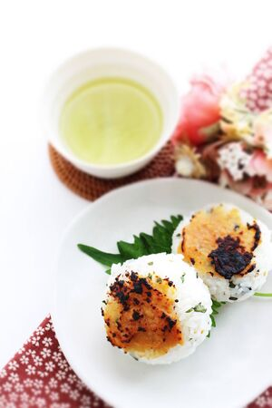 Japanese food, grilled miso rice ball