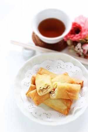 Chinese food, spring roll deep fried dumpling
