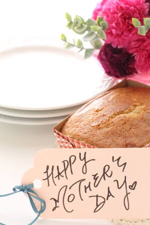Mothers Day Card and Pound Cake with Flower