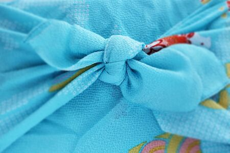Japanese culture, furoshiki cloth wrapped gift for summer image 写真素材