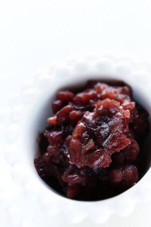Ingrediente de comida asiática, pasta de frijoles rojos Foto de archivo