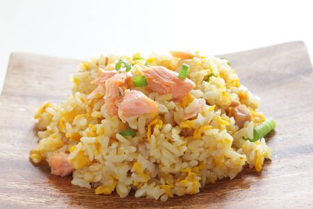 Chinese food, salted salmon fried rice Stock Photo - 132922615