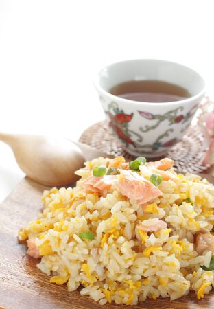 Chinese food, salted salmon fried rice Stock Photo