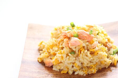 Chinese food, salted salmon fried rice Stock Photo - 132922658