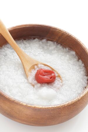 Japanese food, uscan and healthy rice congee in bowl