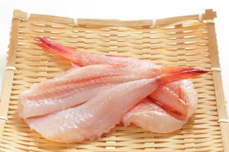 Freshness japanese Kinki fish Rock fish on basket