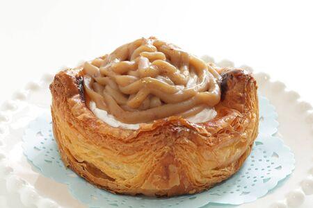Homemade chestnut cream Bun