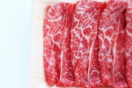 Freshness Japanese marble beef on tray