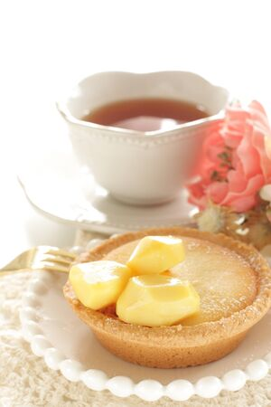 Chestnut tart for gourmet dessert Фото со стока