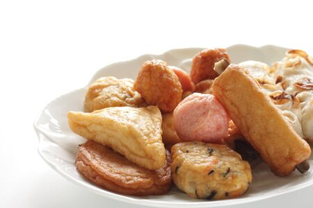 Japanese food, assorted fish cake and fish ball for Oden cooking