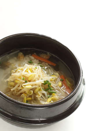 Korean food, soy sprout soup and rice gukbap Stockfoto