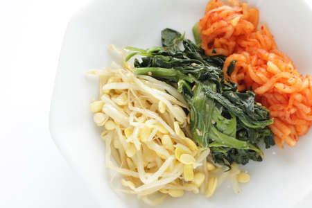 Korean food, seasoning vegetable Namul for vegetarian food