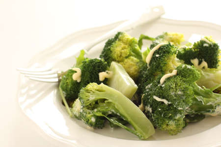 boiled broccoli and mayonnaise salad