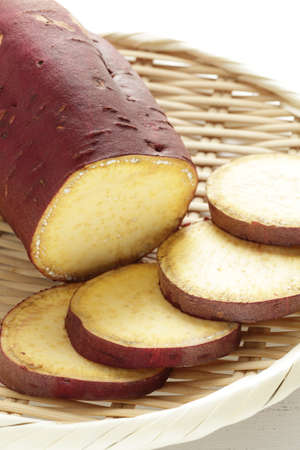 chopped sweet potato for cooking ingredient
