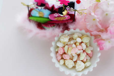 Rice confectionery for Japanese Girls day holiday