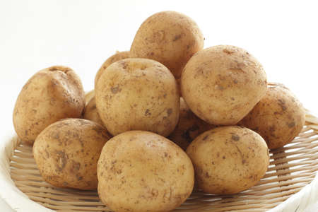 freshness new potato from Japan for spring food ingredient