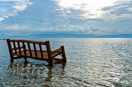 durability: A Bamboo Chair is Soaked in the Ocean. It is a local practice to use bamboo chairs and tables and soaked them once a year for few days in the ocean to improve durability