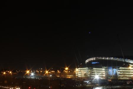 Etihad Stadium in full illumination during Bonfire Night, Man City v  CSKA Moscow
