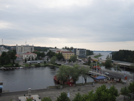 Central Savonlinna in Finland photo
