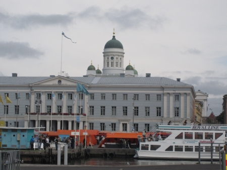Helsinki Market Square and Cathedral tower