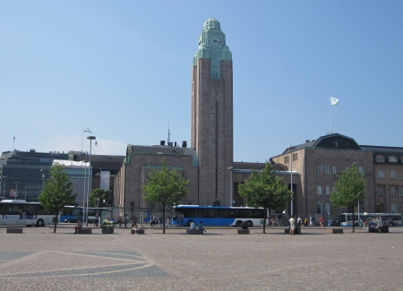 Helsinki, Finland - June 30, 2011 - Helsinki Central railway station