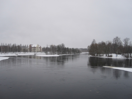 Winter in Joensuu, Finland photo