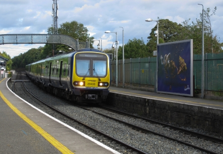 Dublin, Ireland - DART Train in Clonsilla Station