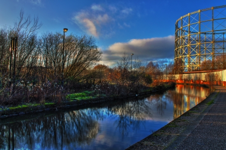 Ashton Canal HDR photo